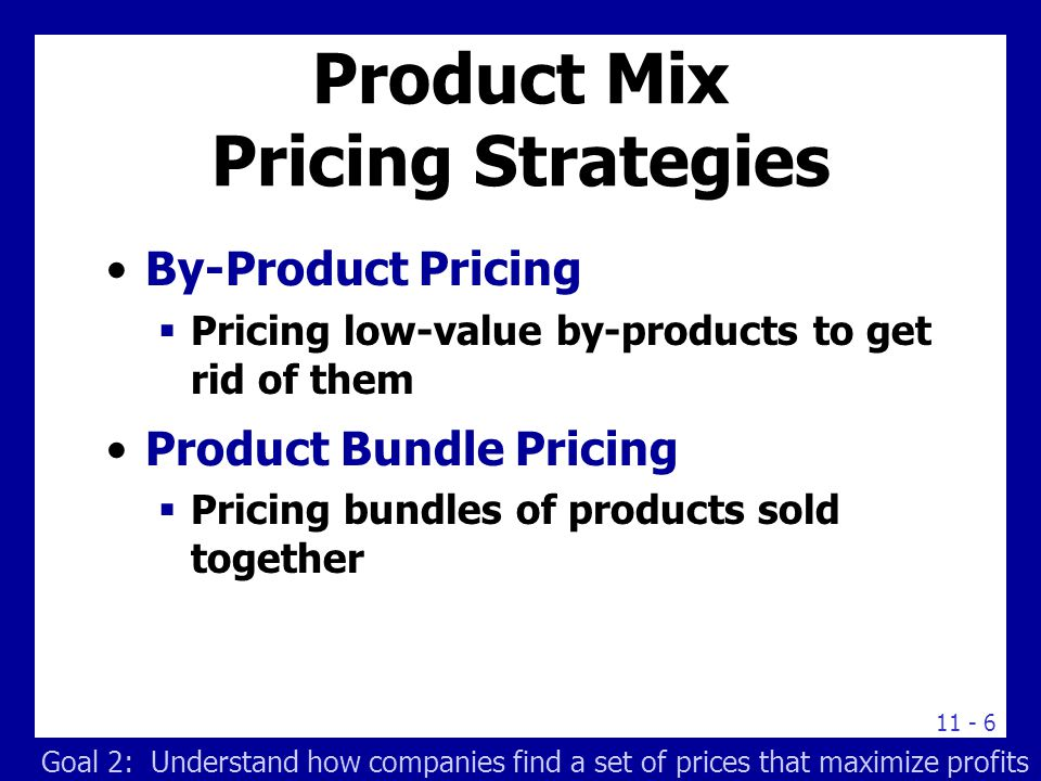 conclusion on product mix pricing Transcript of marketing mix 4ps pizza hut conclusion promotion 0 + pizza hut has been supported by the elements of the marketing mix such as product, price.