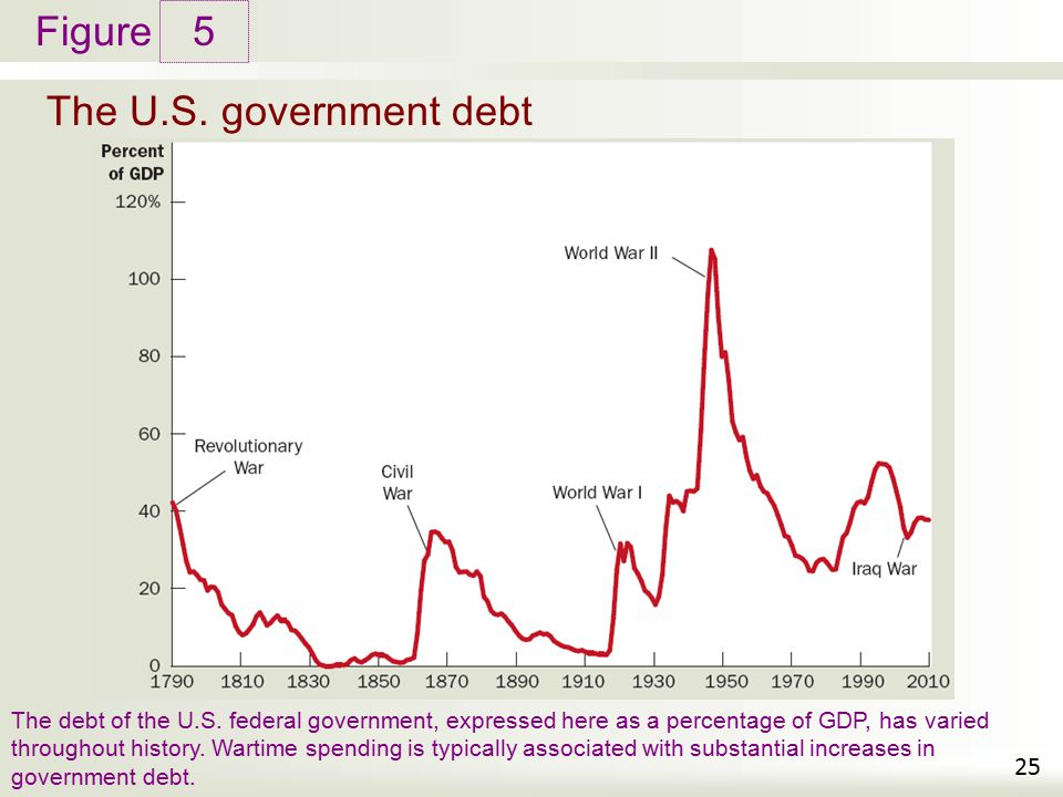5 The U.S. government debt.