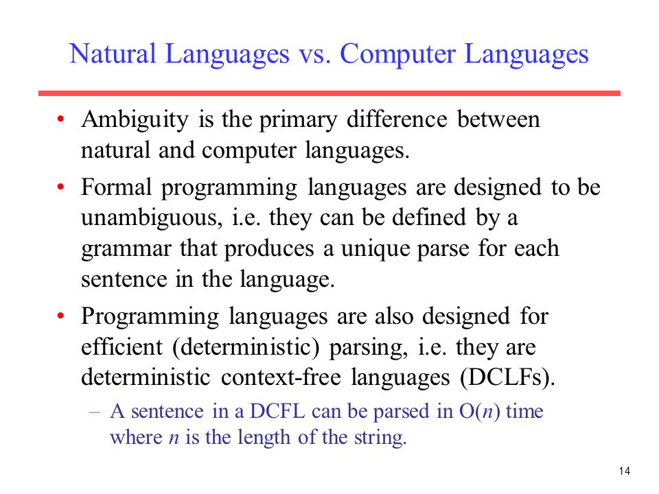 Use Of Context Free Grammar In Natural Language Processing