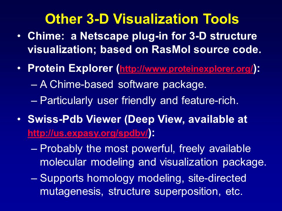 Other 3-D Visualization Tools