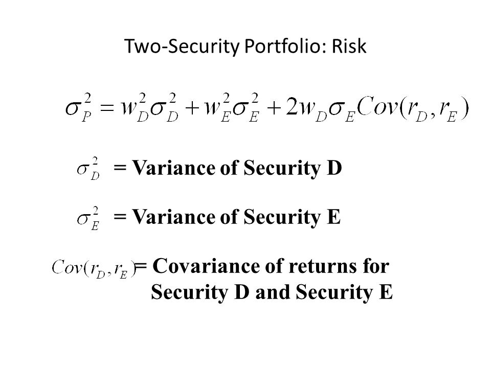 Two-Security Portfolio: Risk