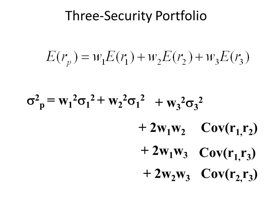 Three-Security Portfolio