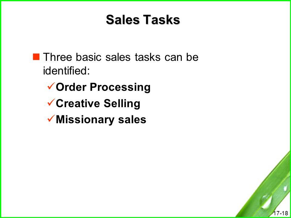 sales tasks