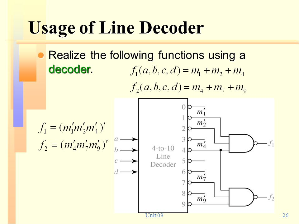 Usage of Line Decoder Realize the following functions using a decoder.