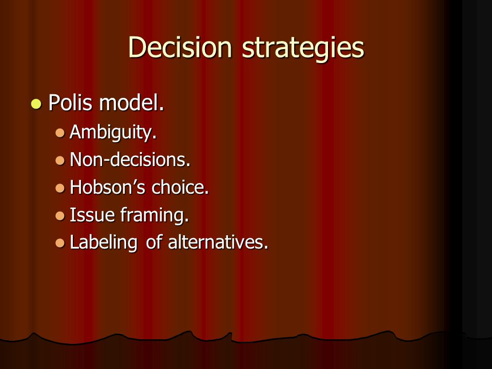 vigilant decision making model Testing the groupthink model:  groupthink and vigilant decision-making models as explanations of failure and  as a model of defective decision-making.