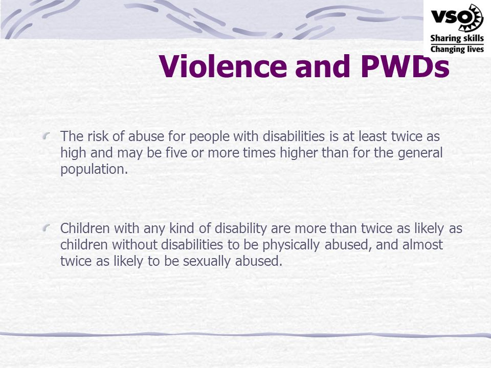 Violence and PWDs
