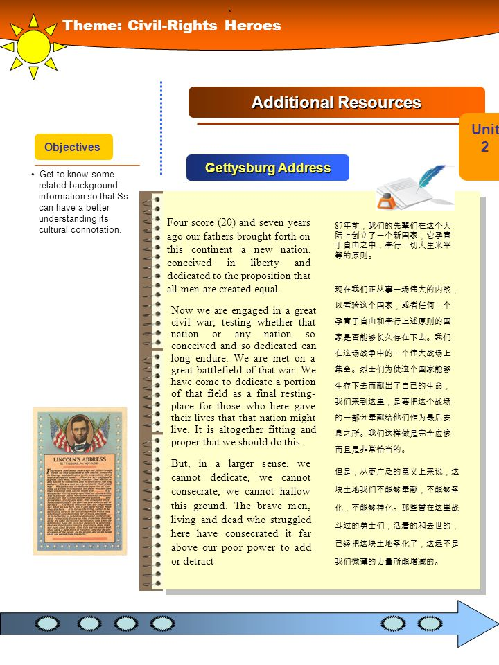 ` Additional Resources Theme: Civil-Rights Heroes Unit 2