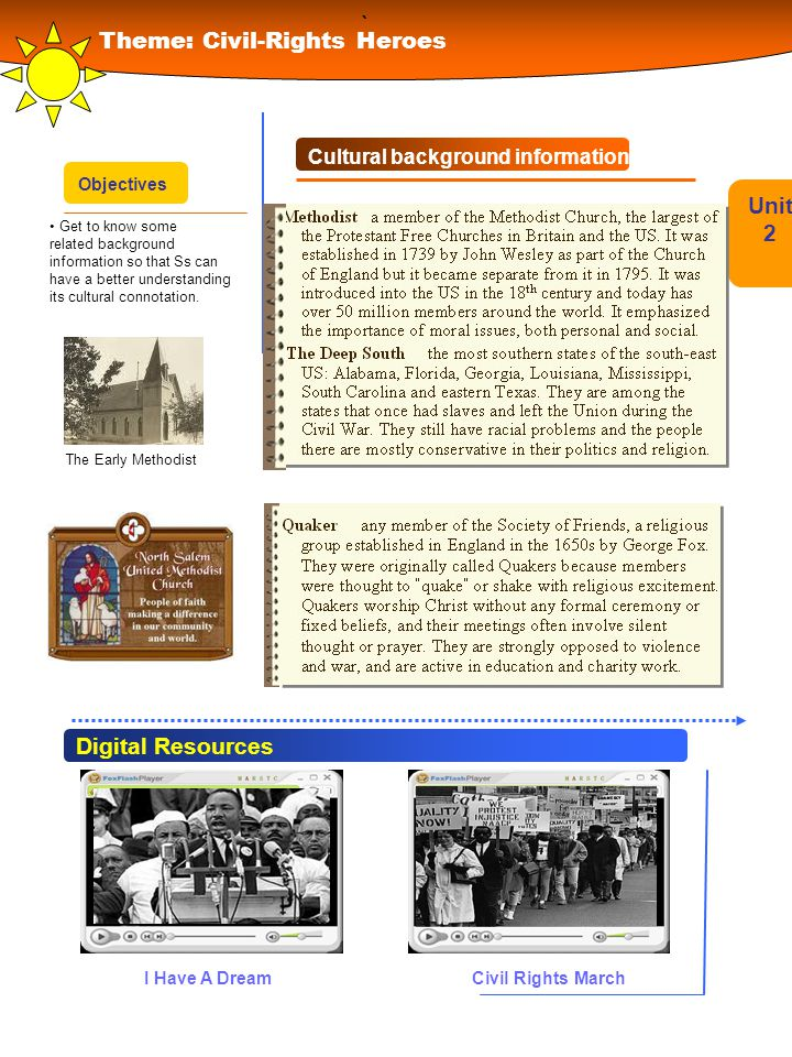 ` Theme: Civil-Rights Heroes Unit 2 Digital Resources