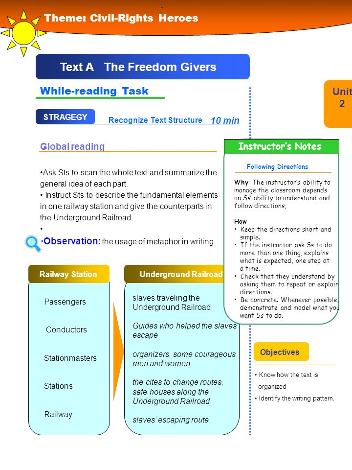 Text A The Freedom Givers