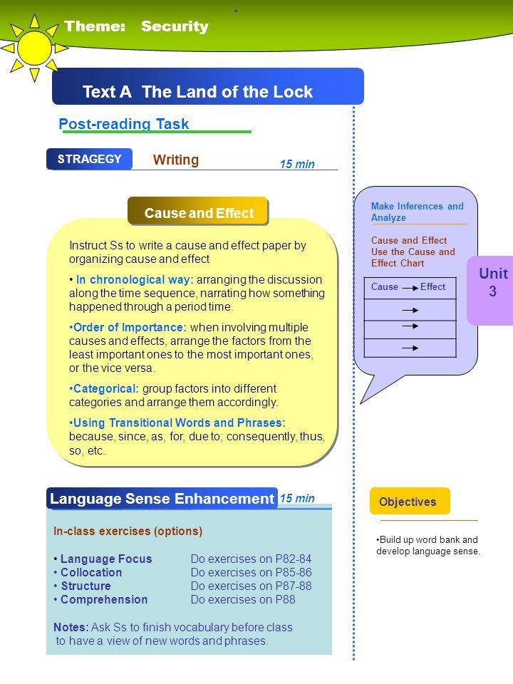 Text A The Land of the Lock Language Sense Enhancement