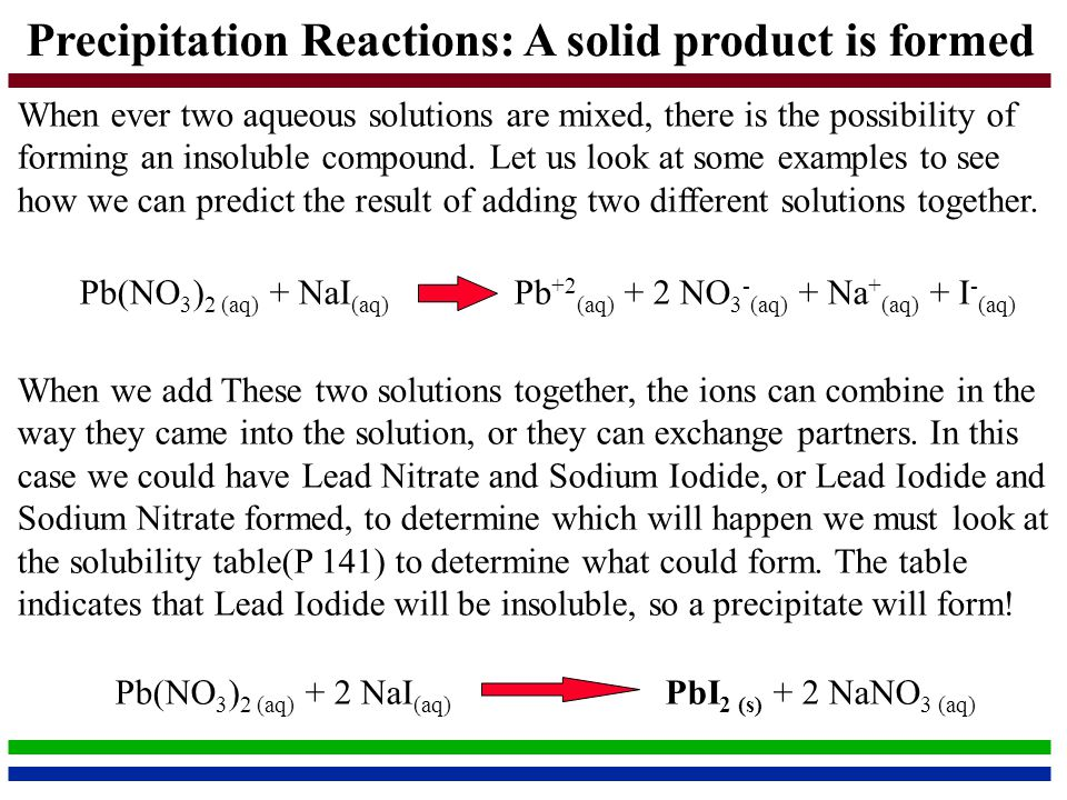 Types of Chemical Reactions and Solution Stoichiometry - ppt download