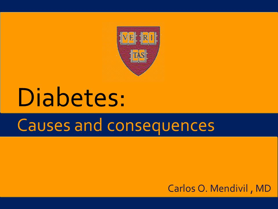 the causes and effects of diabetes Long-term complications related to diabetes are often linked to having high.