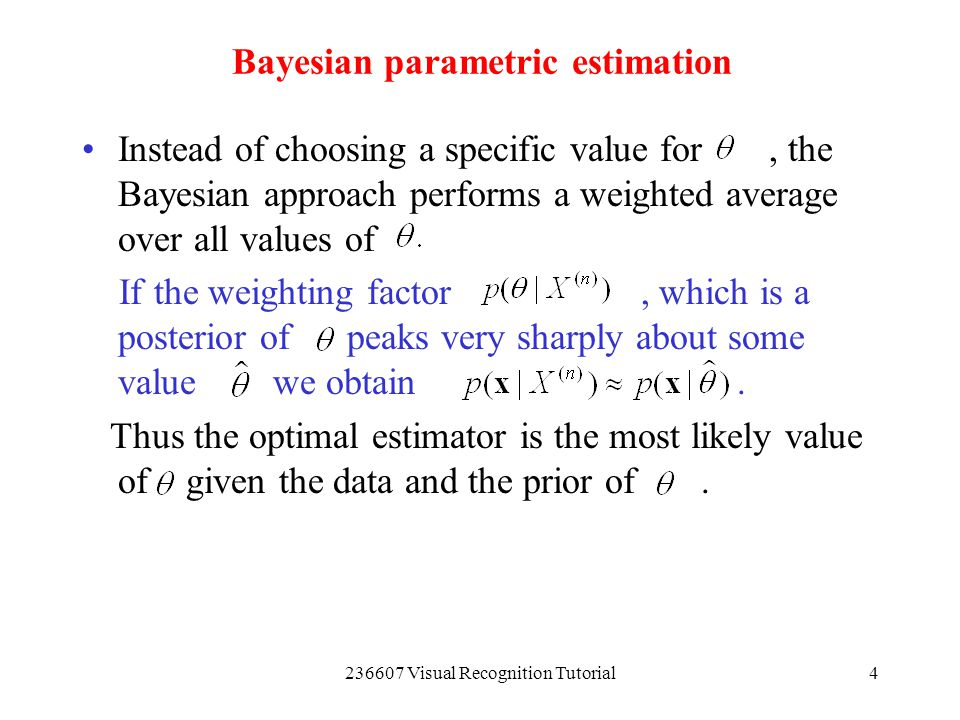 Bayesian parametric estimation