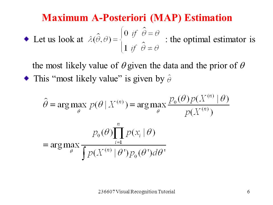 Maximum A-Posteriori (MAP) Estimation