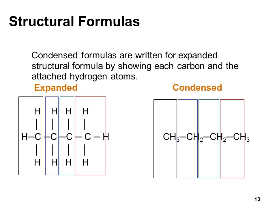 how to draw line and structural formula for alkanes