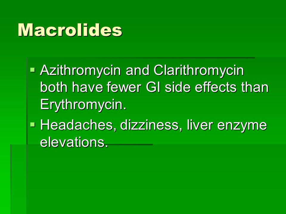 Clarithromycin Side Effects Diarrhea