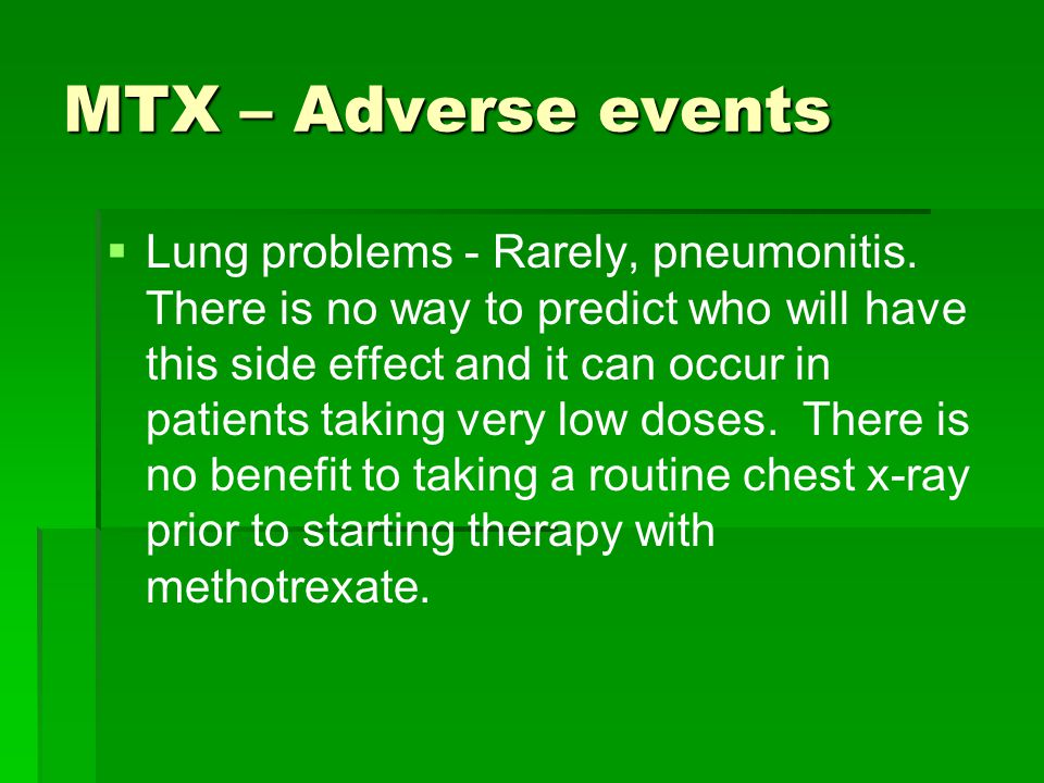 Methotrexate And Alcohol Side Effects