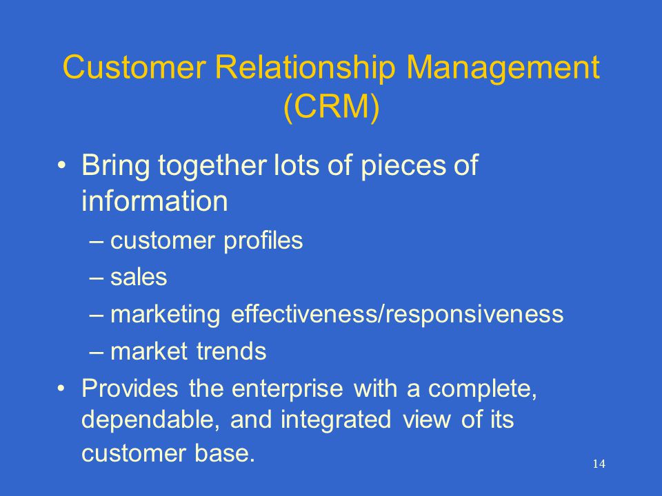 customer relationship management in marketing This article explains customer relationship management (crm) methodology in a practical way after reading you will understand the basics of this powerful marketing.
