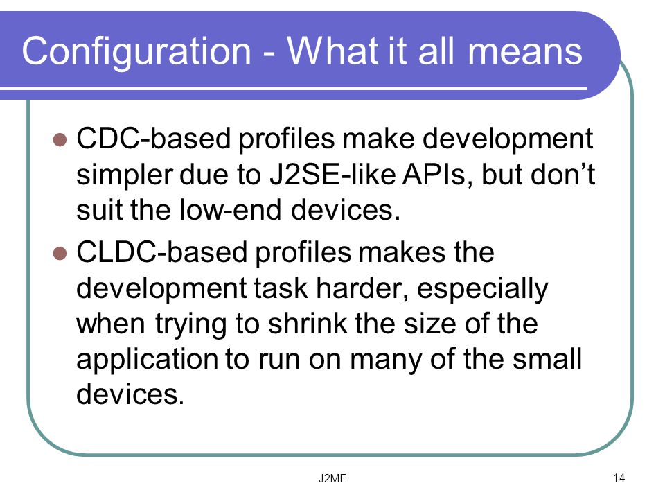 Configuration - What it all means