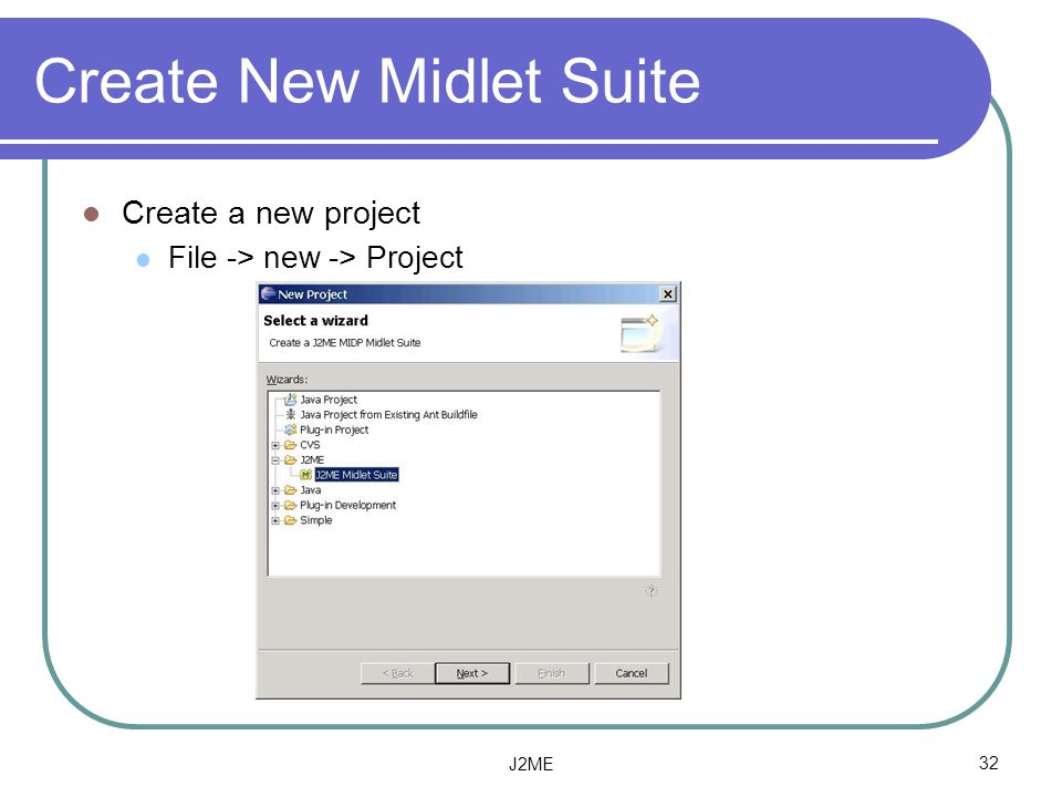 Create New Midlet Suite
