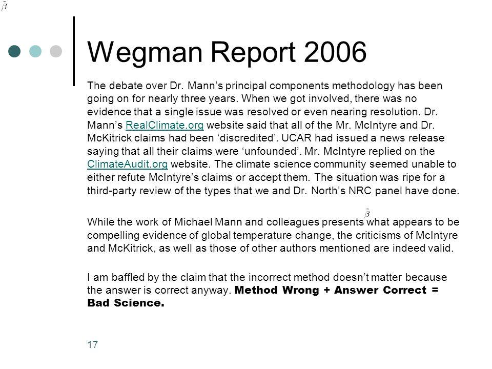 Wegman Report 2006