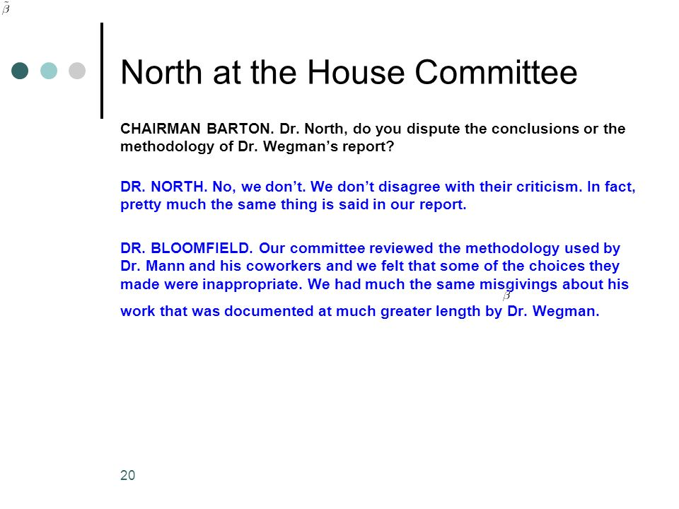 North at the House Committee