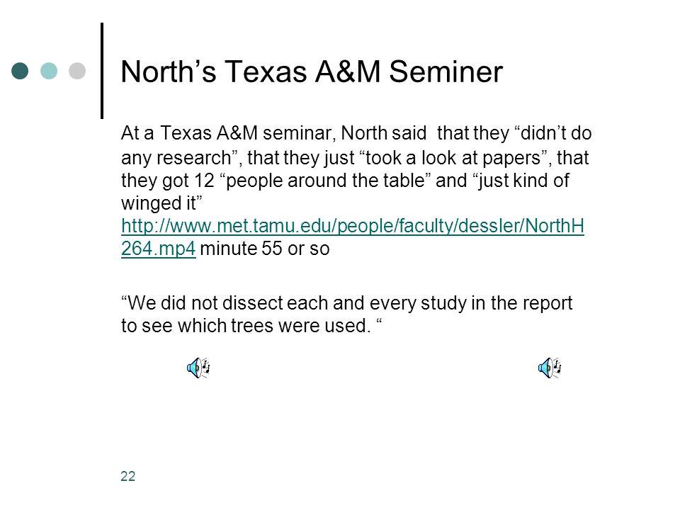 North's Texas A&M Seminer