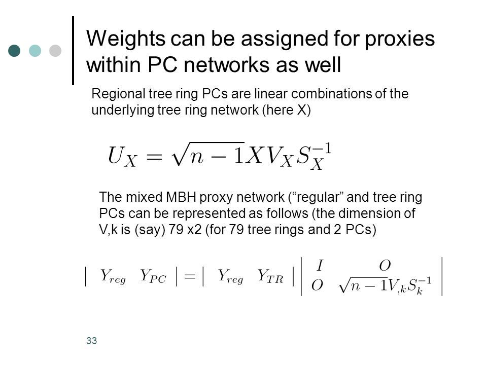 Weights can be assigned for proxies within PC networks as well