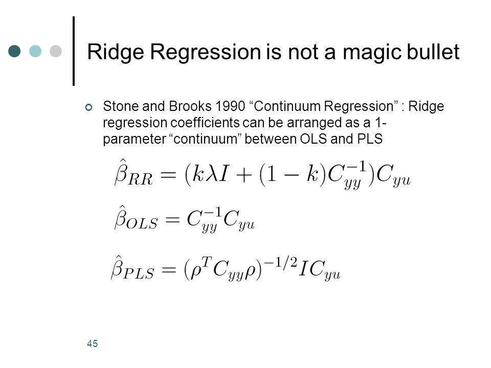 Ridge Regression is not a magic bullet