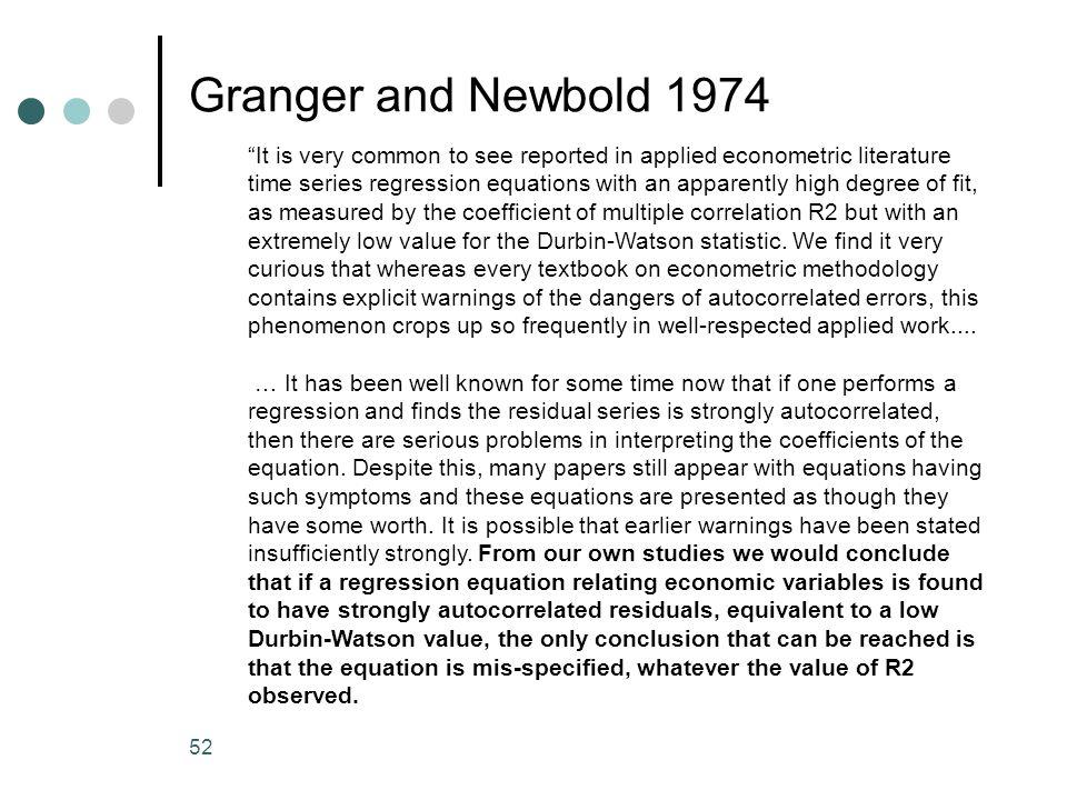 Granger and Newbold 1974