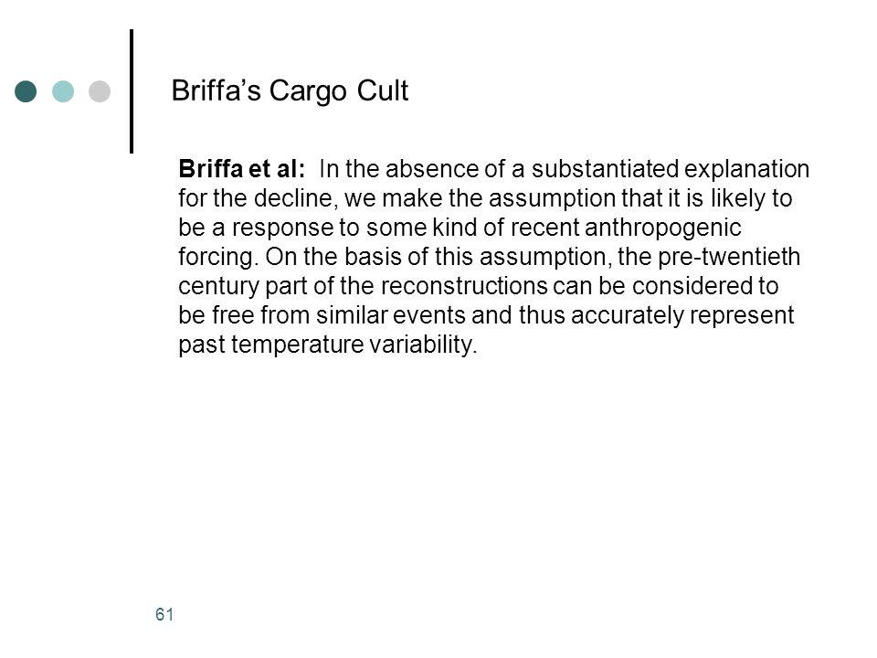 Briffa's Cargo Cult