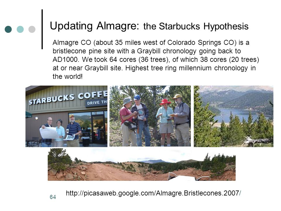 Updating Almagre: the Starbucks Hypothesis
