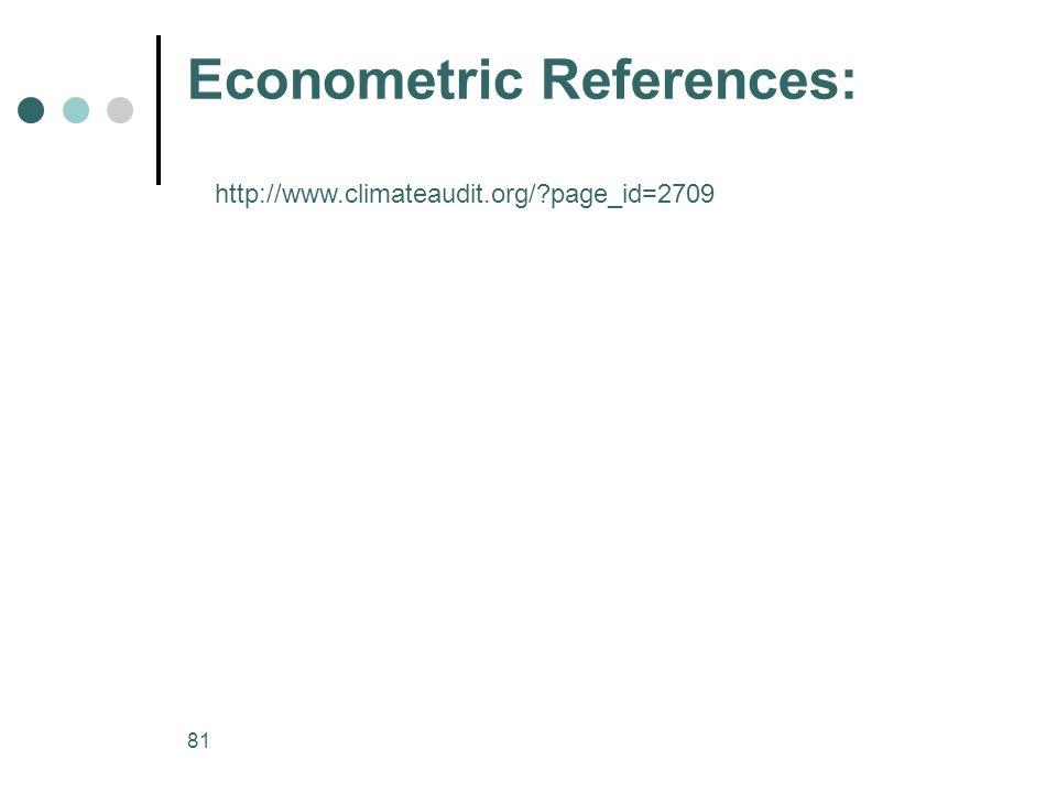 Econometric References:
