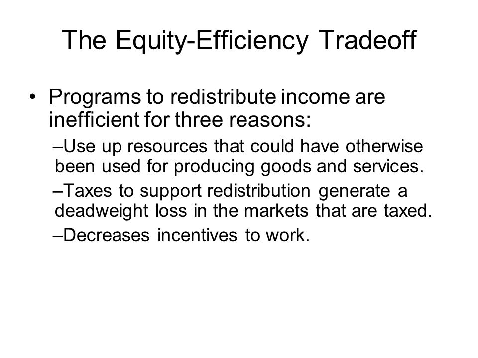 The Equity-Efficiency Tradeoff
