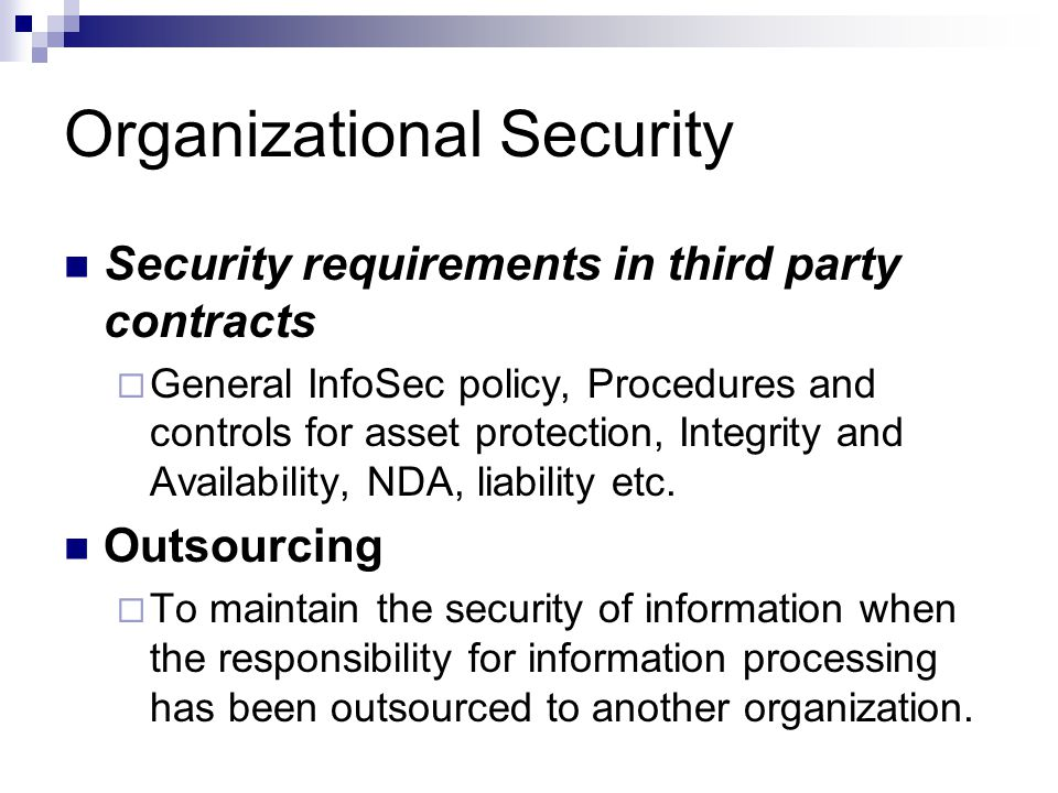 organization security policy Cso's security policy, templates and tools page provides free sample documents contributed by the security community  it will make a big difference in your organization's ability to reduce.