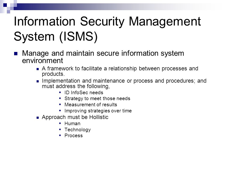 The need for information security management information technology essay