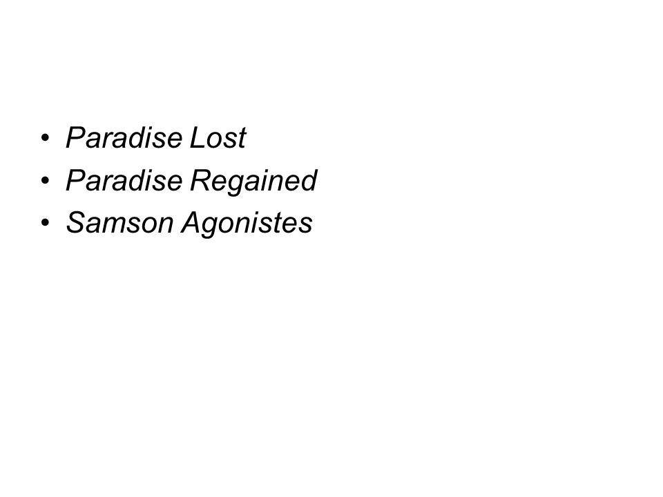 Paradise Regained Summary