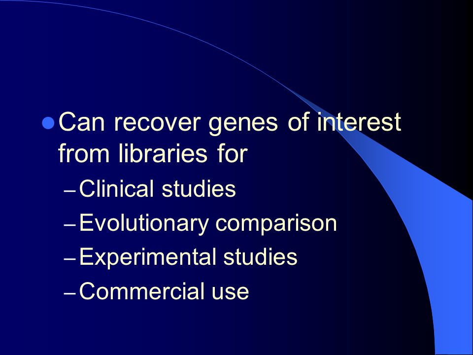 Can recover genes of interest from libraries for