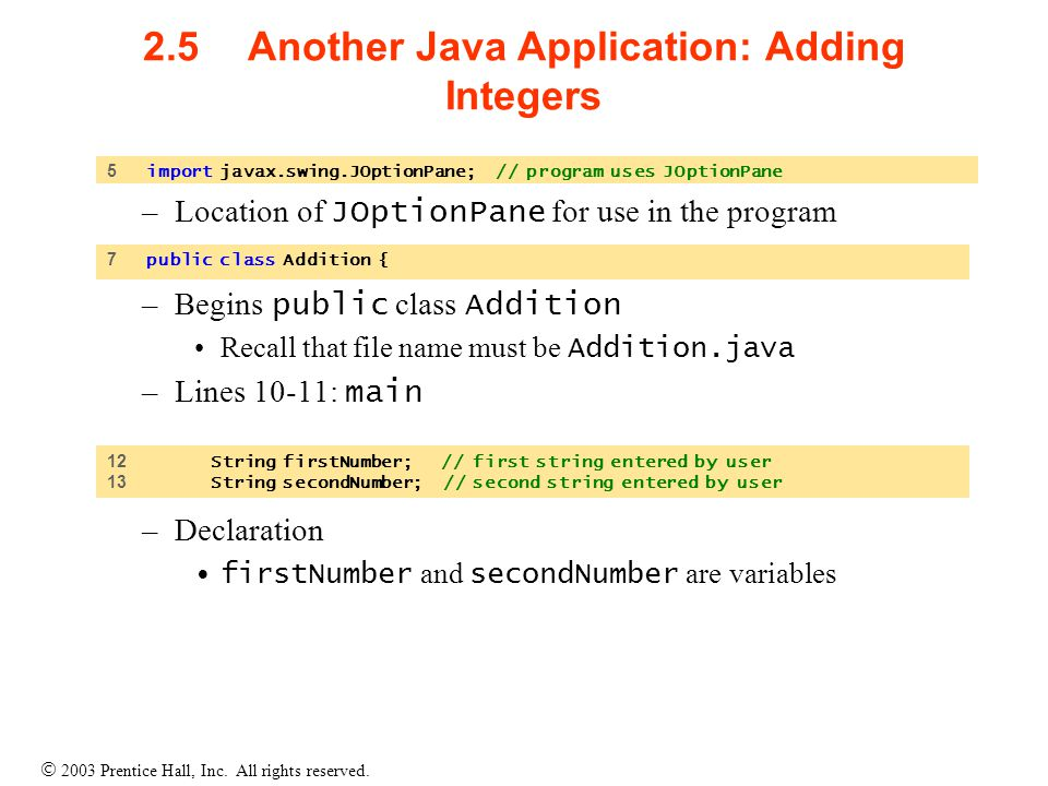 how to add integers inside a list java