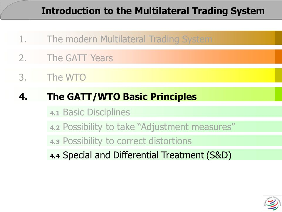 What are the 4 major principles of trading systems