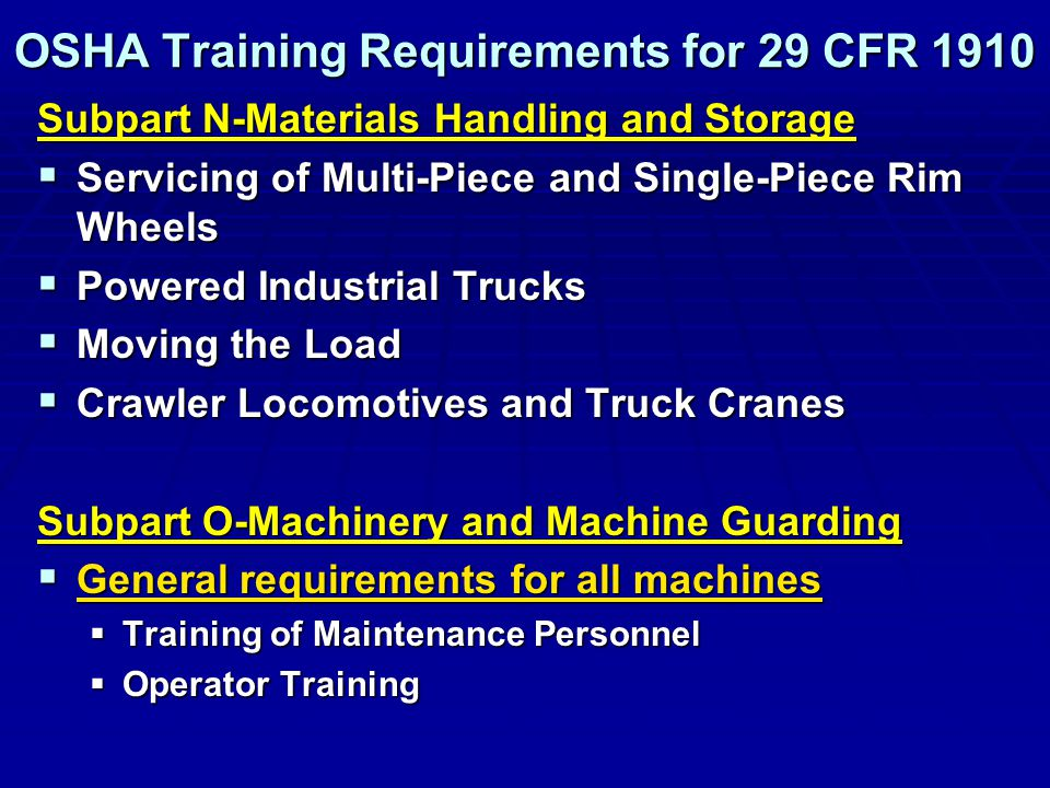 Introduction to Machinery and Machine Safeguarding (OSHA #7100)