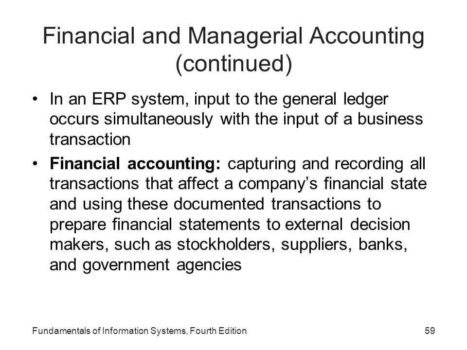 Financial and Managerial Accounting (continued)
