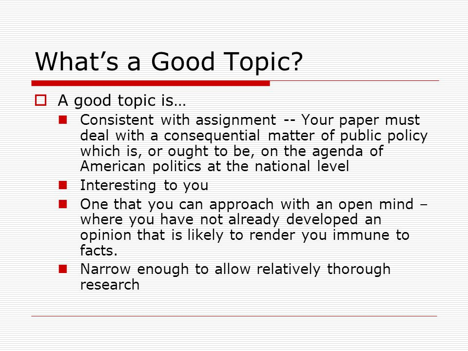 chapter formulating your research question ppt what s a good topic a good topic is