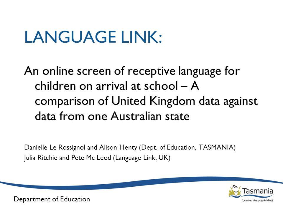 LANGUAGE LINK: