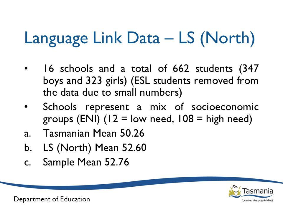 Language Link Data – LS (North)