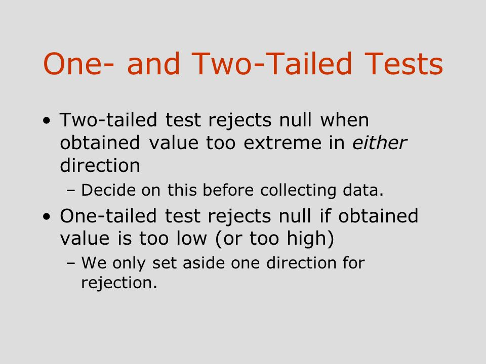 One- and Two-Tailed Tests - Book Summaries, Test