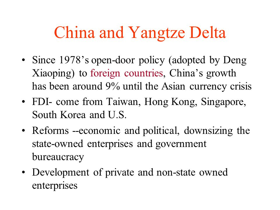 China and Yangtze Delta