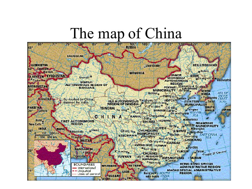 The map of China