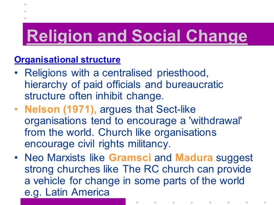 the social and religious changes in america Portes and rumbaut (2006) viewed religious practice as source of social capital   of american religious beliefs to have changed significantly in just two years.