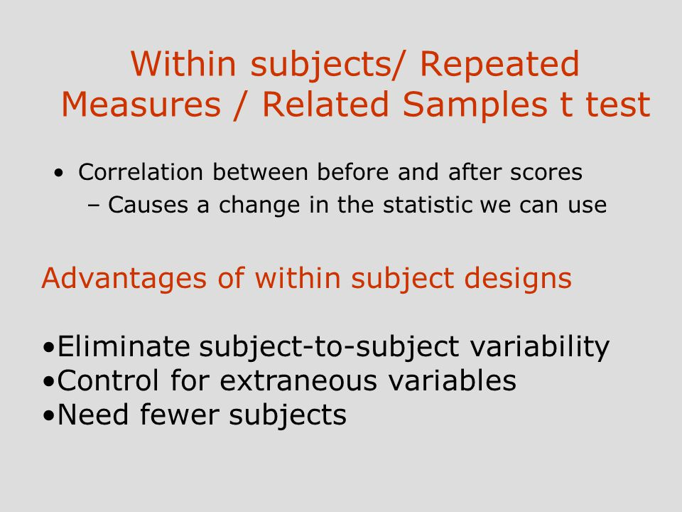 between subjects design Within-subjects anova   be able to create the source and df columns of an anova summary table for a design with one between-subjects and one within-subjects.